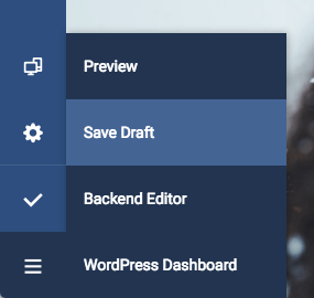 Save, Publish, View and Preview options in Visual Composer Website Builder Frontend editor for WordPress