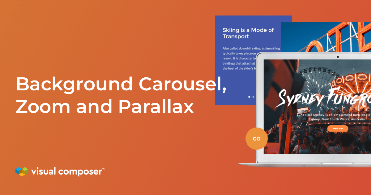 Image background with carousel, zoom and parallax effects