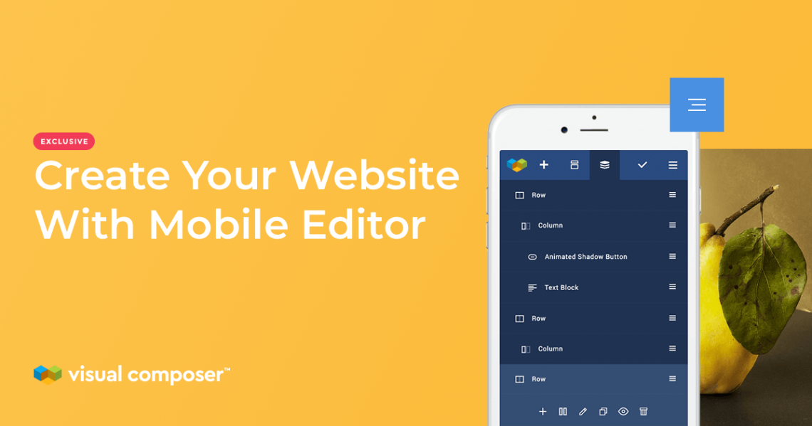 Edit your WordPress website with Visual Composer Mobile Editor