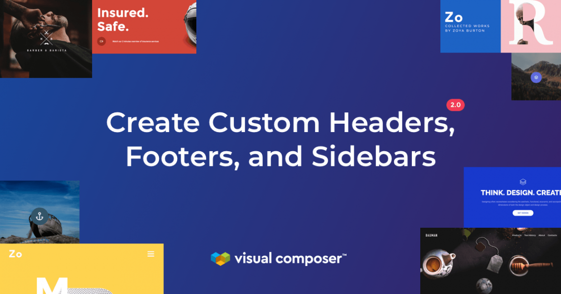 Create custom headers, footers, and sidebars with Visual Composer