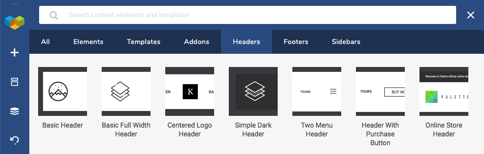 Header, Footer, Sidebar template download from the Visual Composer Hub