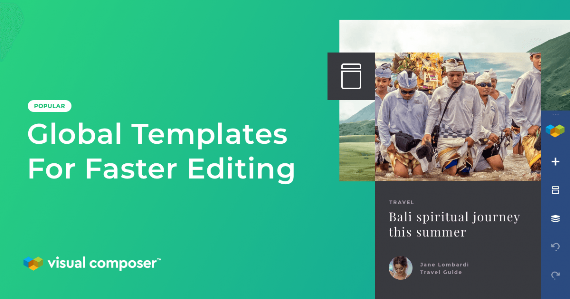 Global template management with Visual Composer addon
