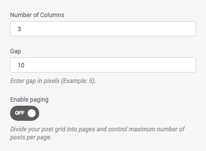 Control the grid of your post grid - gaps, columns, pagination