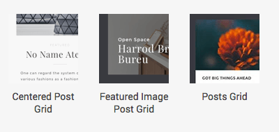 Post grid elements in Visual Composer for WordPress