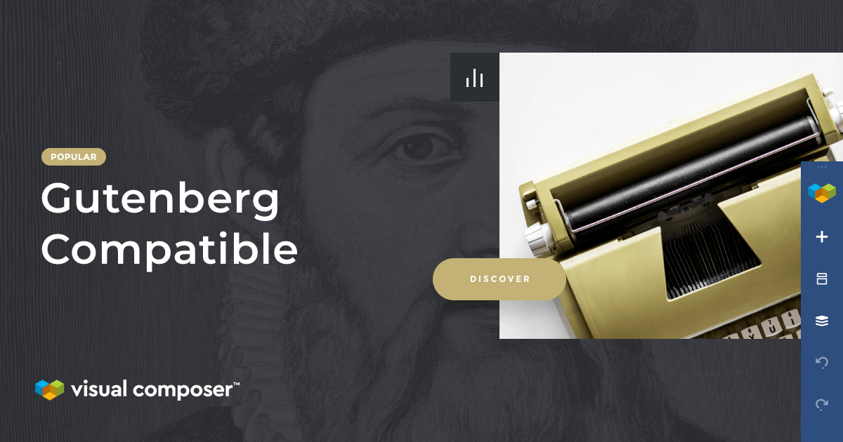 Visual Composer is fully compatible with the Gutenberg editor