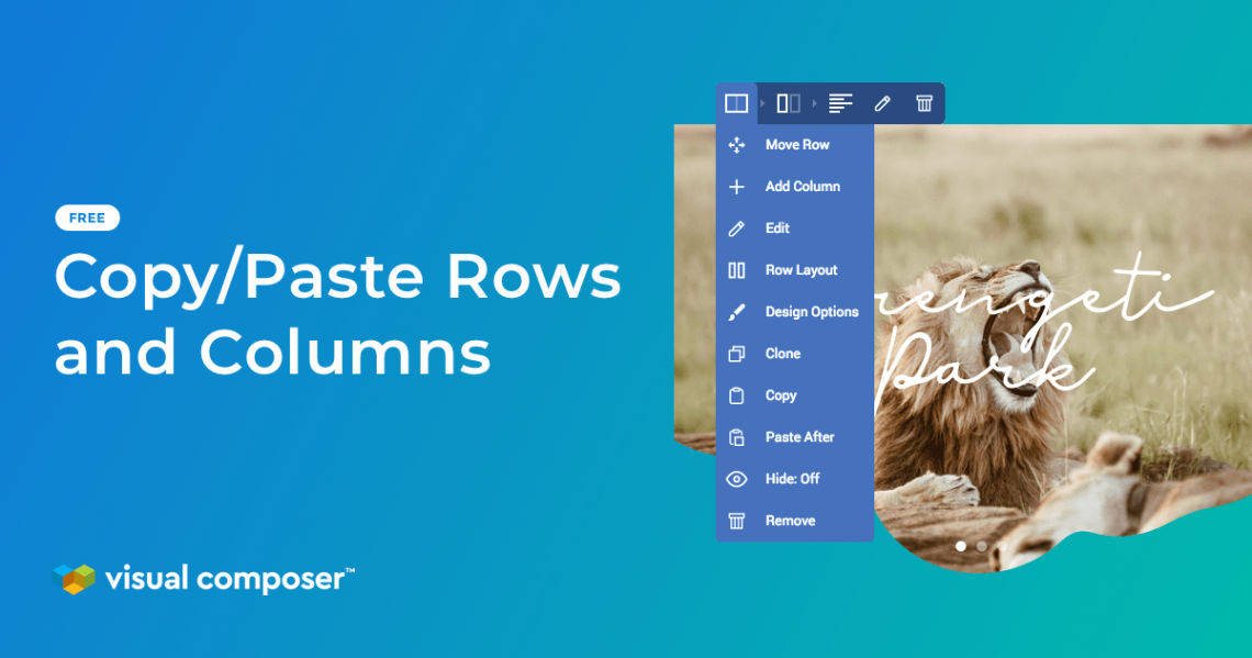 Copy/Paste rows and columns across your WordPress site