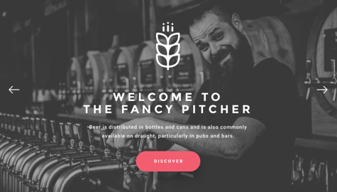 Pub and restaurant page example with Visual Composer for WordPress
