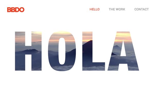 BBDO website made with Visual Composer