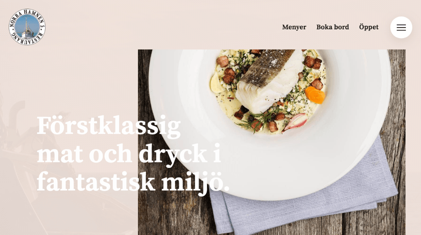 Norra Hamnens 5 Restaurant website made with the Visual Composer for WordPress