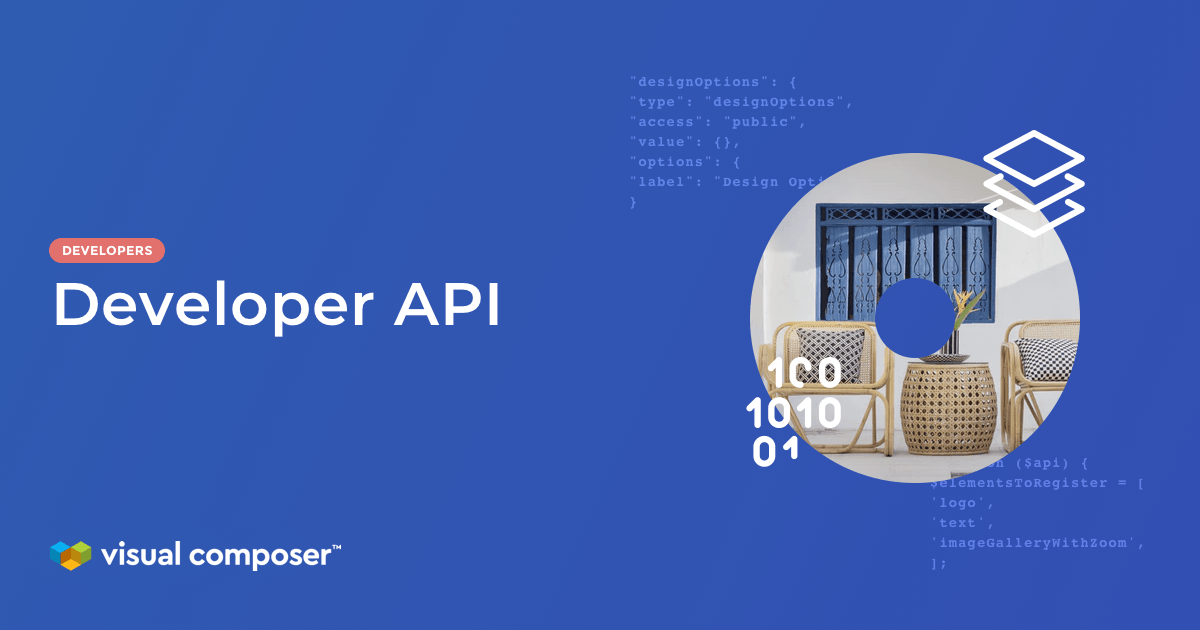 Develop custom elements and Visual Composer Add-ons with the API