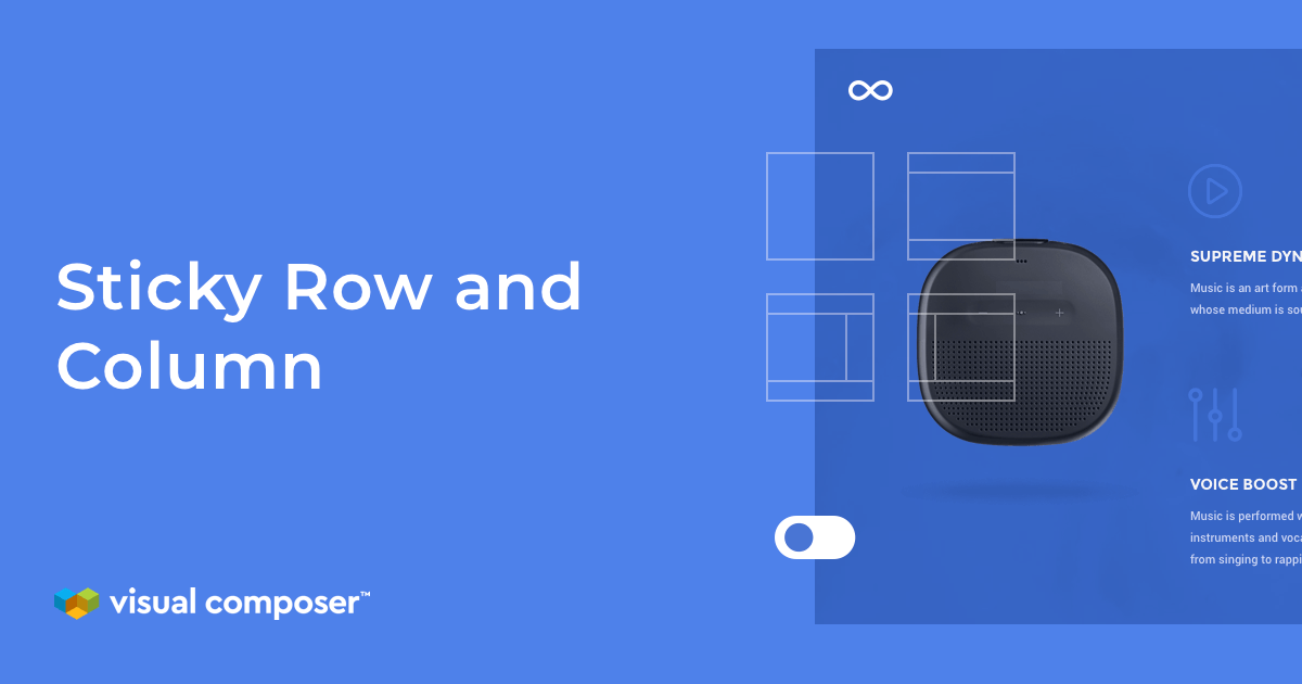 Sticky rows, columns, and sections in Visual Composer for WordPress