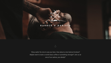 WordPress template for barber shops, pubs, bars, and tattoo salons