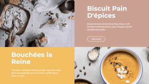 WordPress template for cooking and recipes