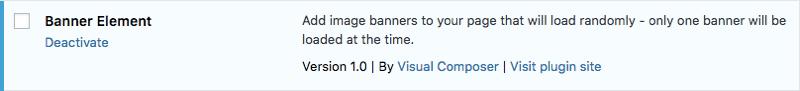 Activate banner element plugin