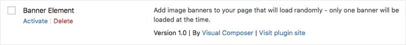 Banner element plugin