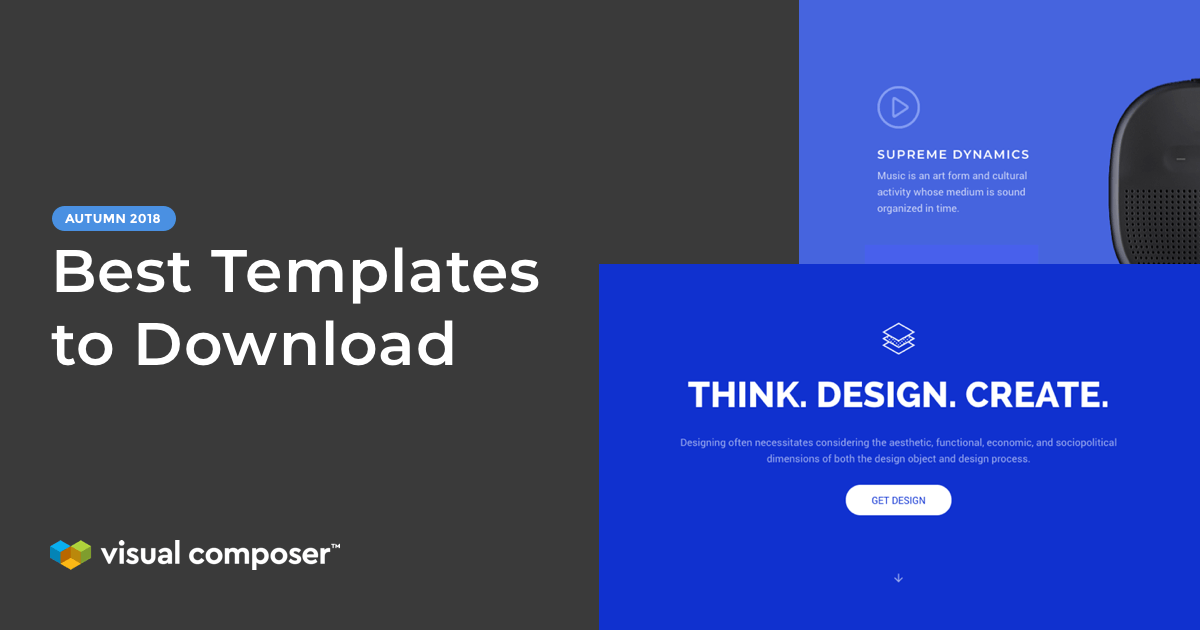 6 new and best WordPress templates to download from Visual Composer Hub