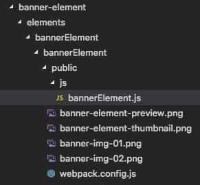 js folder with bannerElement