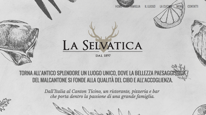 La Selvatica restaurant website created with Visual Composer