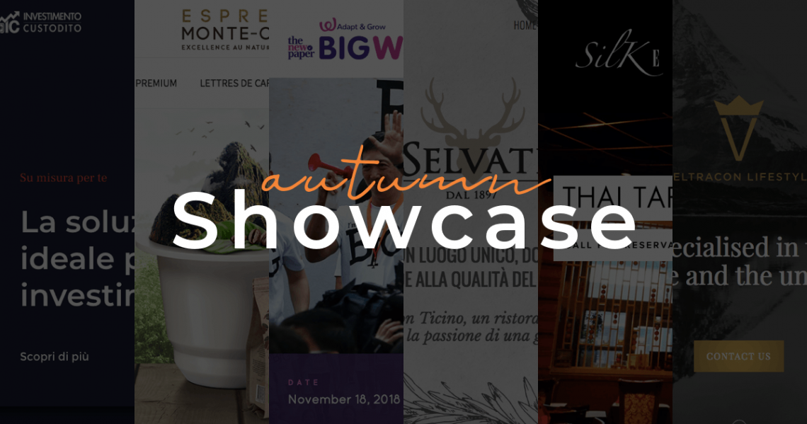 Autumn showcase: examples of websites created with Visual Composer for WordPress