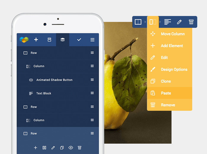 Edit your WordPress website from mobile device with Visual Composer Mobile Builder