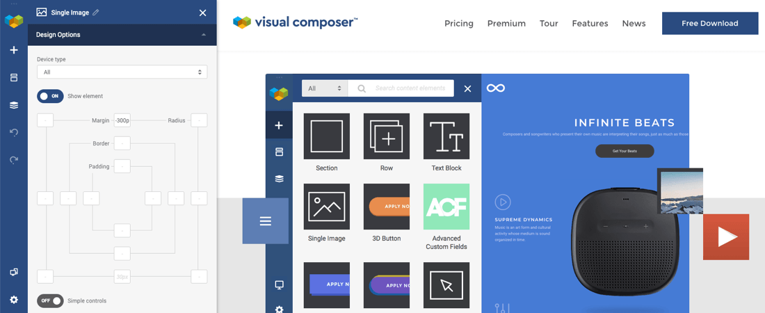 Image overlay/overlap in Visual Composer