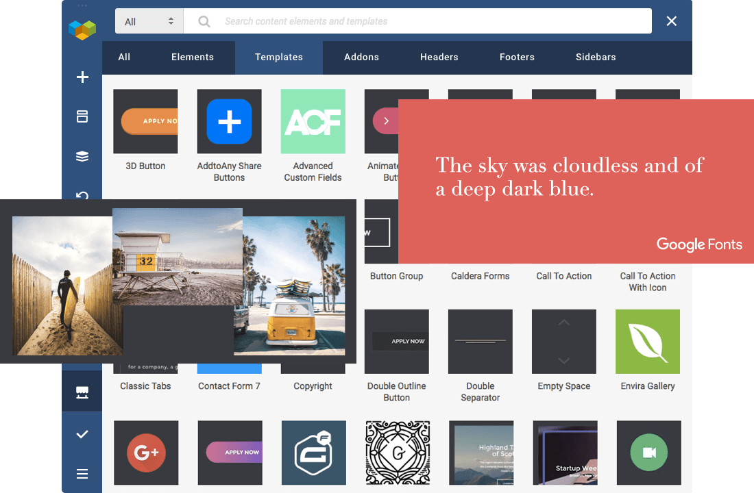 Download elements, templates, and extensions from Visual Composer Hub - instantly.