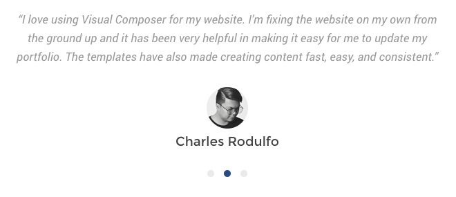 Add testimonials carousel in Visual Composer for WordPress