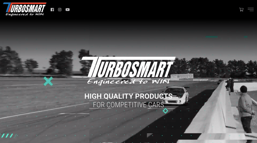 Turbosmart website example made with Visual Composer