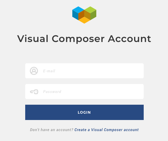 Access your Visual Composer account to manage licenses and subscriptions