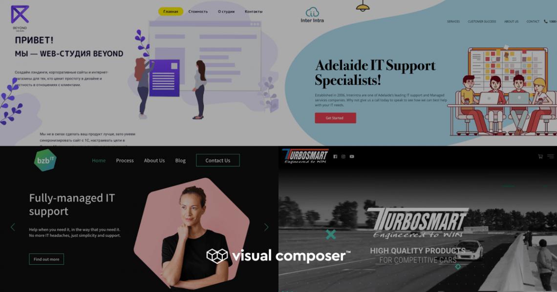 Visual Composer winter showcase 2019 - examples