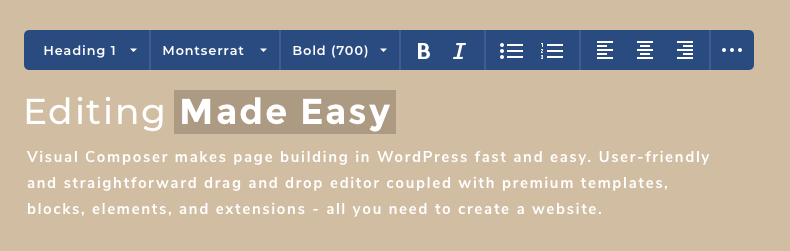 UI/UX for inline text editor for WordPress