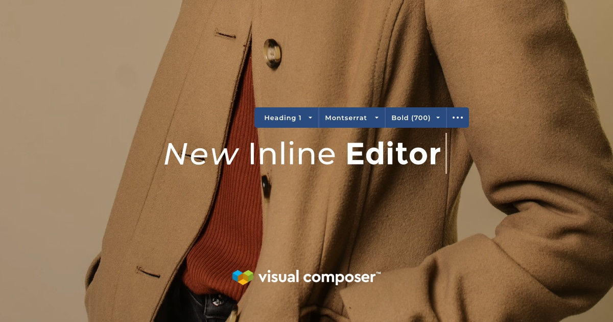 Visual Composer new inline editor for WordPress with Google Fonts
