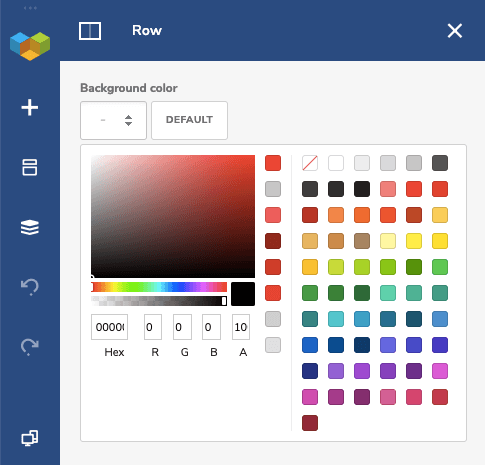Row background color control in Visual Composer