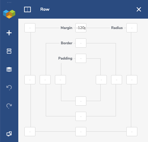 Row Design Options with negative margin