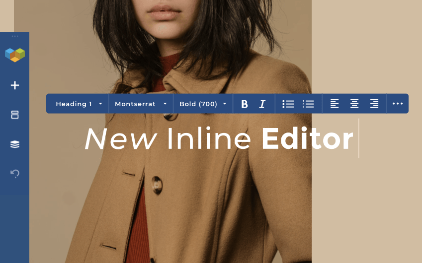 Inline text editor for WordPress