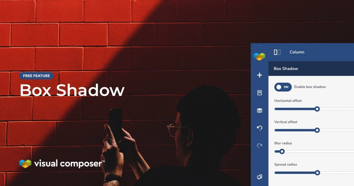 Box Shadow option in Visual Composer Website Builder for WordPress