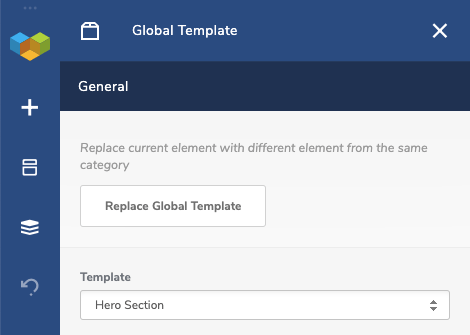 Global Template Element Window