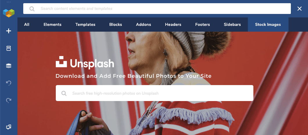 Unsplash photos in WordPress with Visual Composer