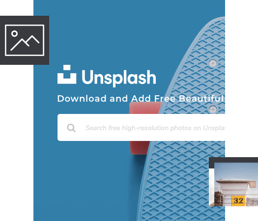 Download Unsplash stock images in Visual Composer