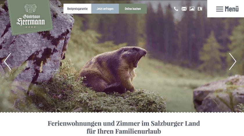 Gaestehaus Herrmann website example with Visual Composer