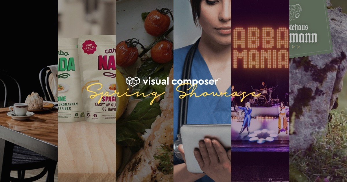 Visual Composer Spring Showcase 2019: WordPress website examples