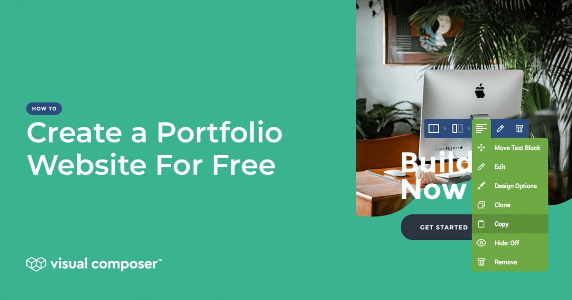 How to create a portfolio website for free on WordPress