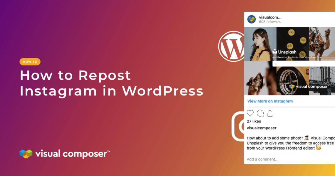 How to repost Instagram in WordPress