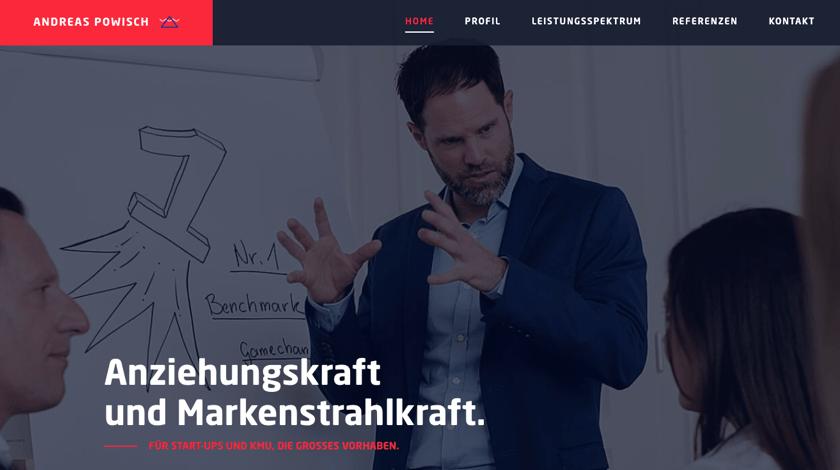 Andreas Powisch webdesign example