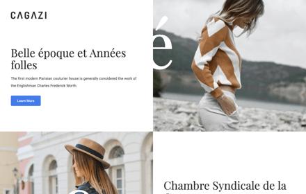 Fashion Magazine Leaflet Template