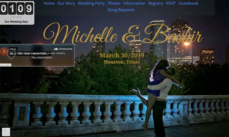 Michelle and Bashir wedding website example