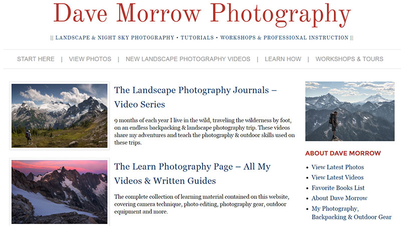Dave Morrow Photography Photography Blog
