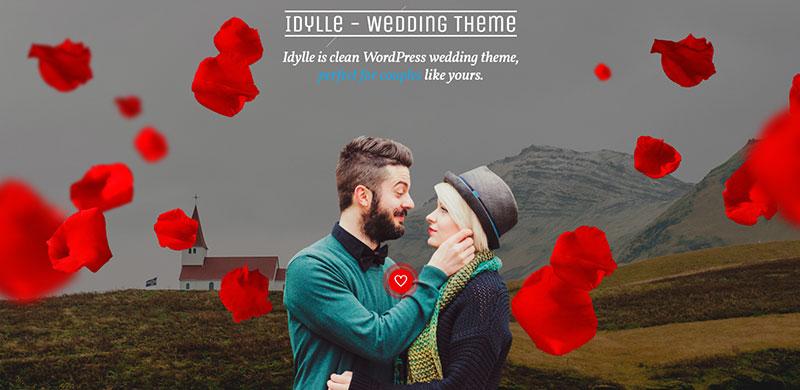 Maintain the Theme Wedding Website Example