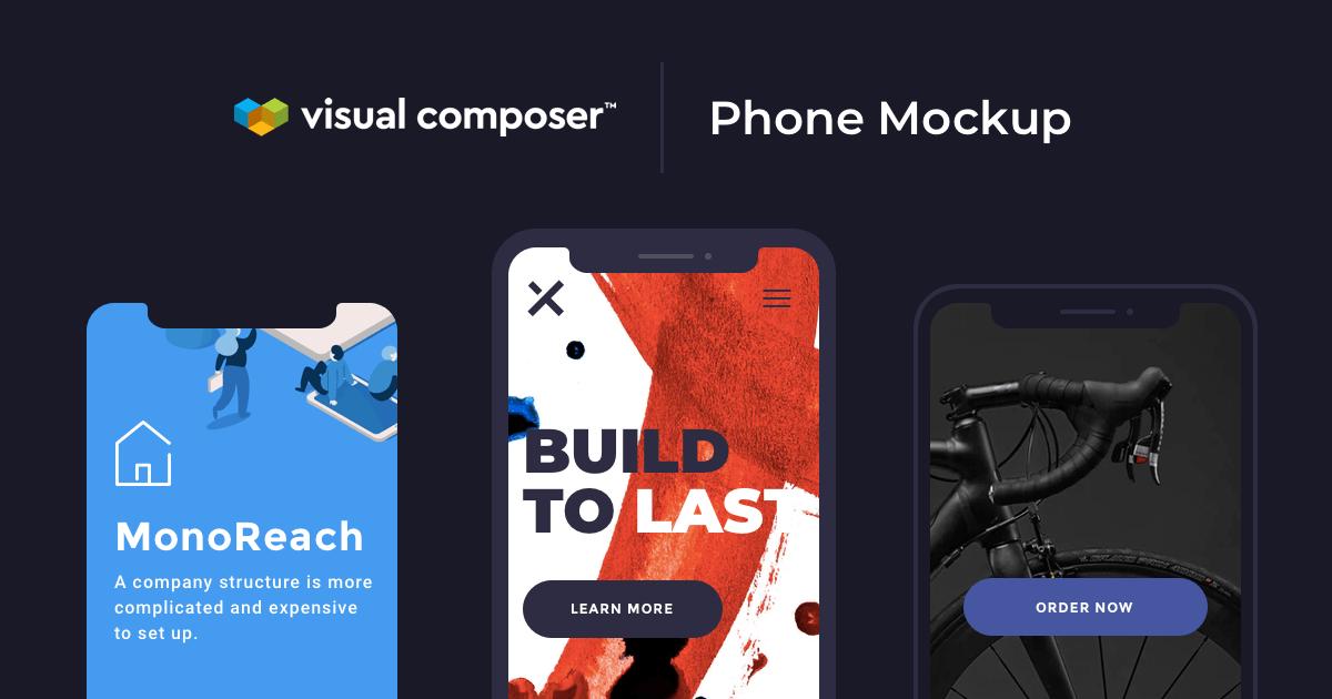 Build Your App Portfolio With Phone Mockup Element