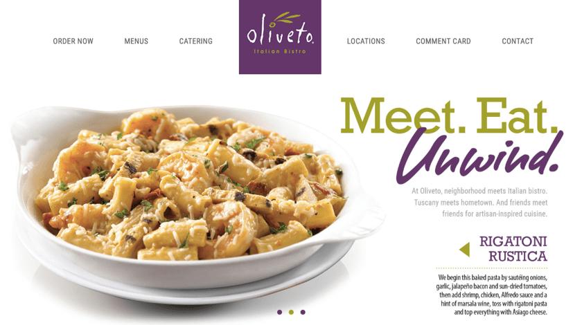 Oliveto website example